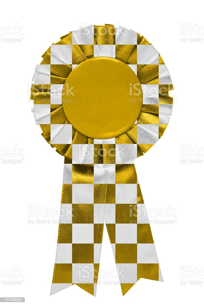 Gold chequered ribbon royalty-free stock photo
