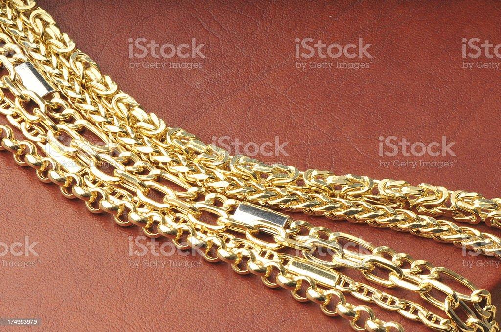 Gold Chian royalty-free stock photo