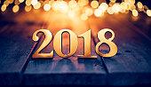 ゴールド クリスマス 2018 - ライト木新年