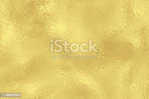 Gold Christmas Background Foil Wrinkled Holiday Texture  Shiny Yellow Crumpled Wrapping Gift Paper Bright Gilded Rough Fete Golden Backdrop Digitally Generated Image Seamless Pattern