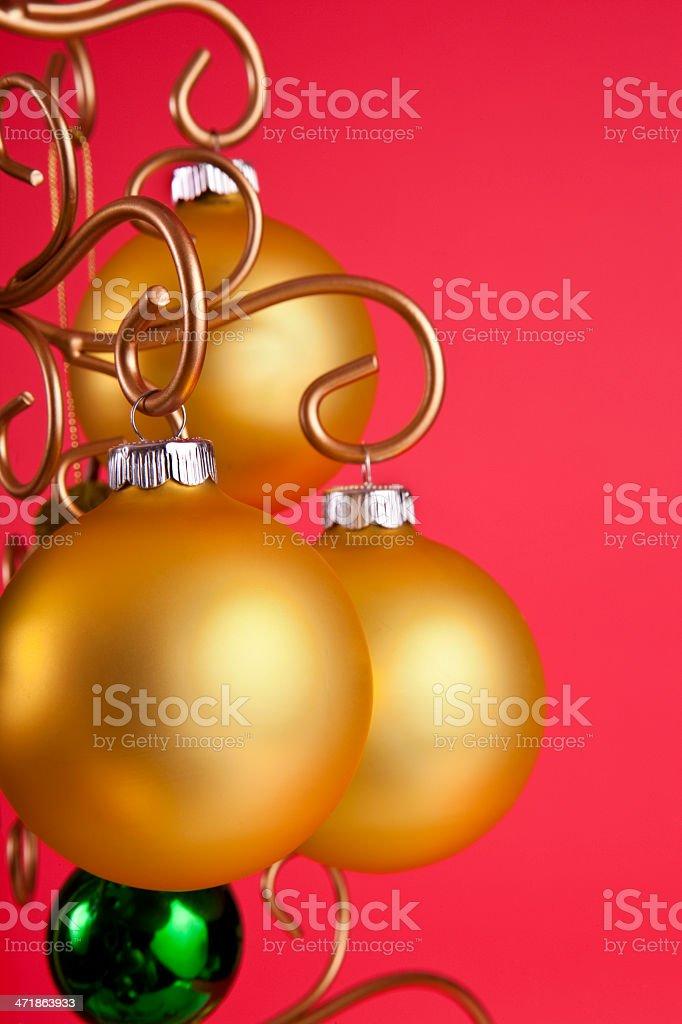 Gold Christmas Balls royalty-free stock photo
