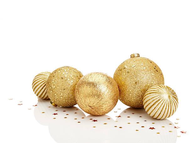 gold christmas balls - christmas decoration golden star bildbanksfoton och bilder