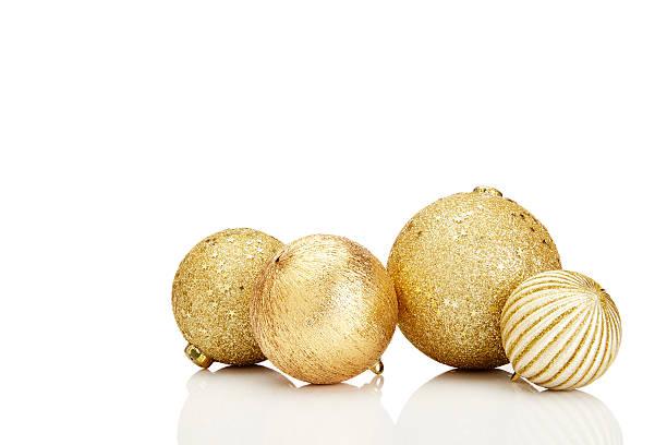 Gold decorações comuns de Natal - foto de acervo