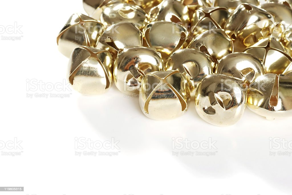 gold christmas bells royalty-free stock photo