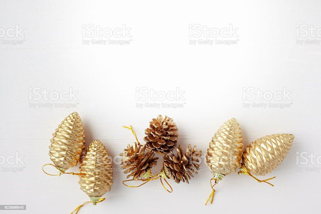 Gold Weihnachten Dekoration – Foto