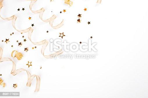 istock Gold Christmas decorations 898177634