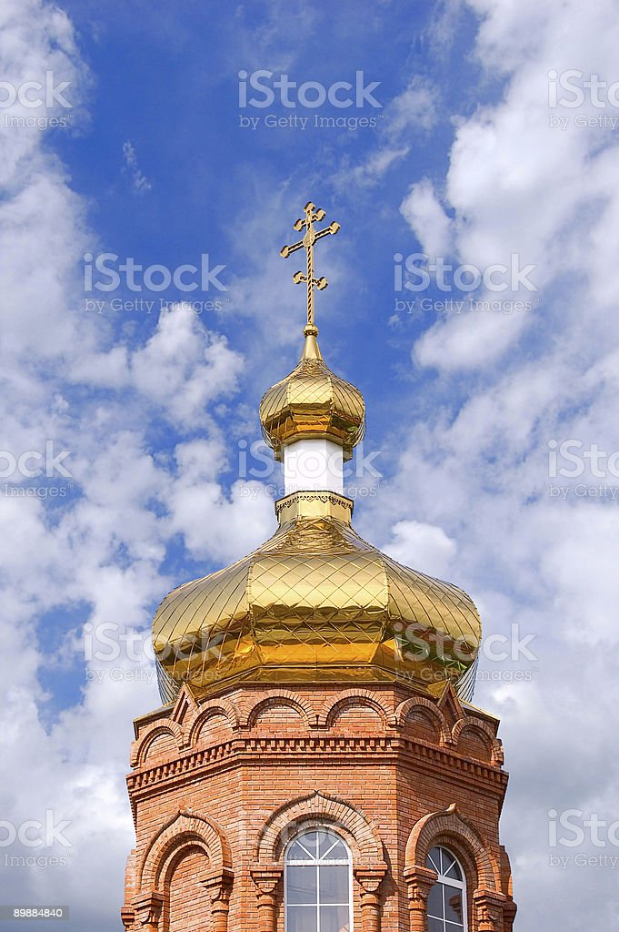 Gold church royalty-free stock photo
