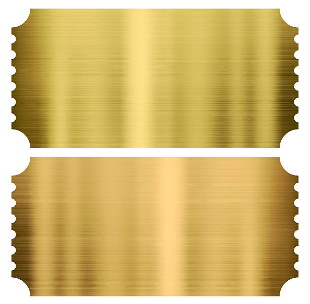 Pretty Gold Ticket Template Images Gallery >> 13 Word Ticket ...