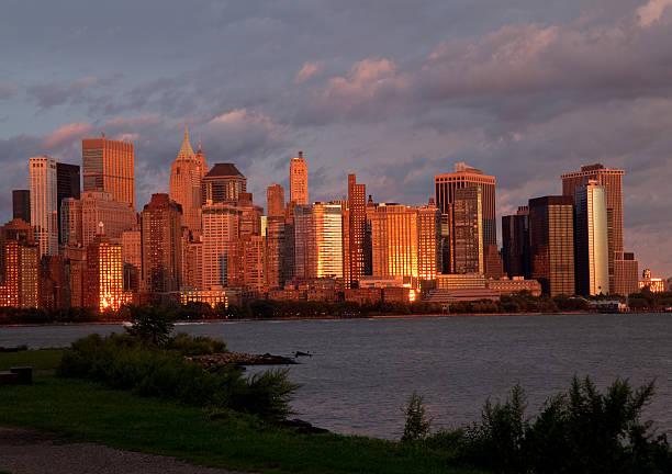 Gold city stock photo