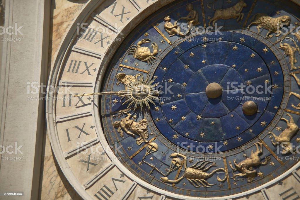 Gold clock stock photo