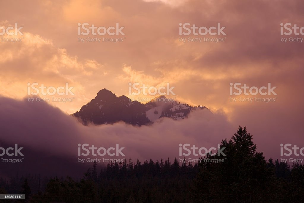Gold clouds stock photo