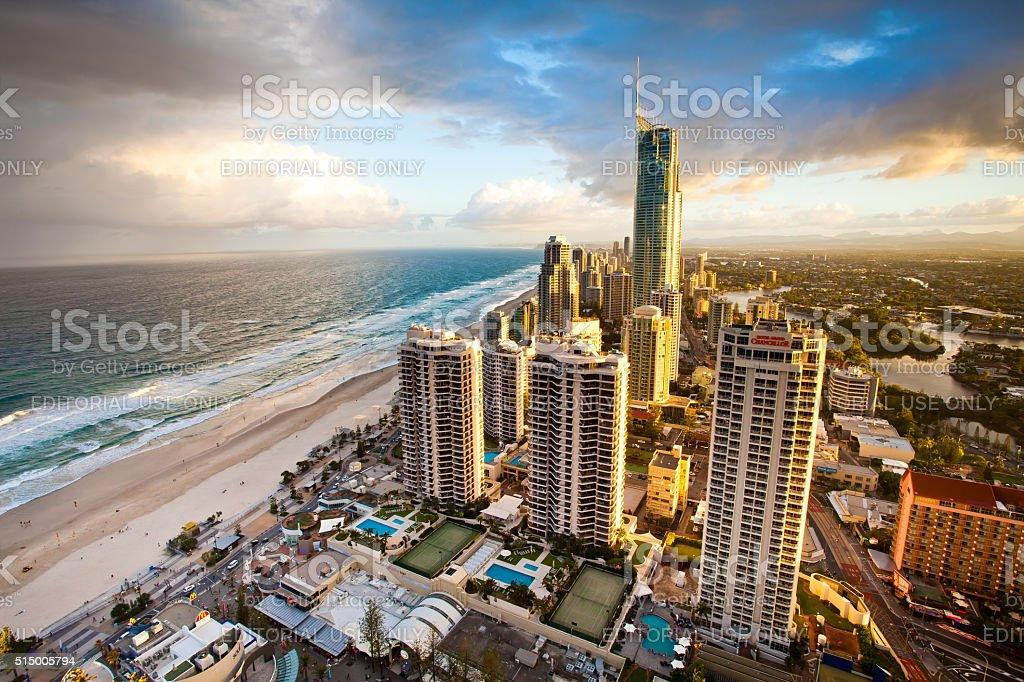 Gold Coast Queensland Australia - Evening stock photo