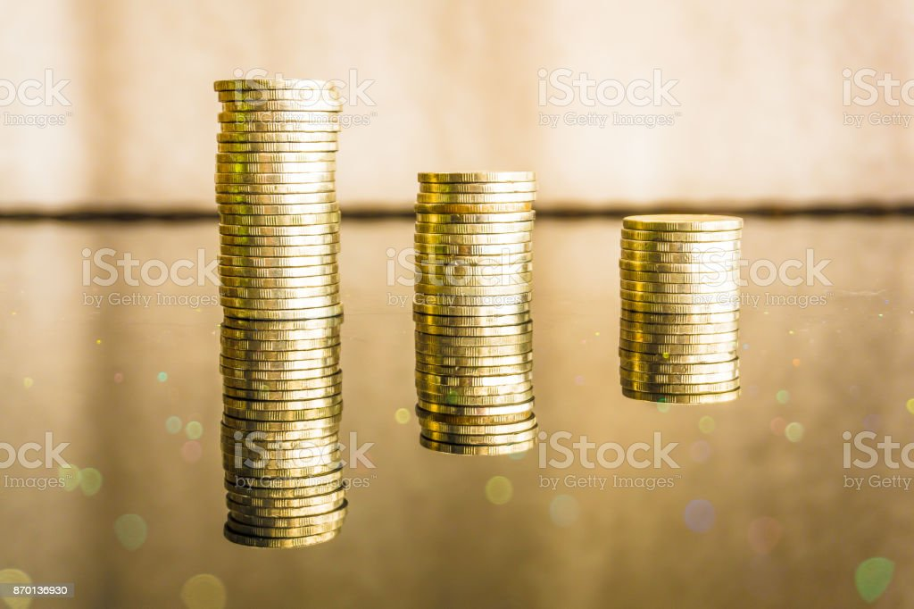 Gold Coin Financial Investment Growth Concept stock photo