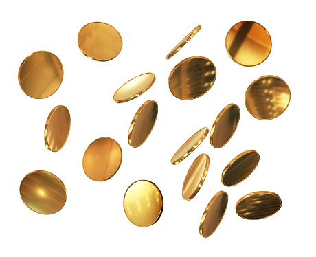 Falling, Coin, Gold, Currency, Metal, Circle, Brass, Jackpot, Gold Colored