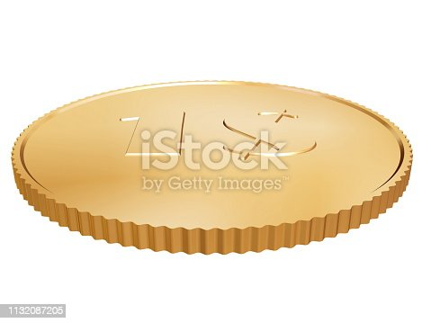 istock gold coin on white 1132087205