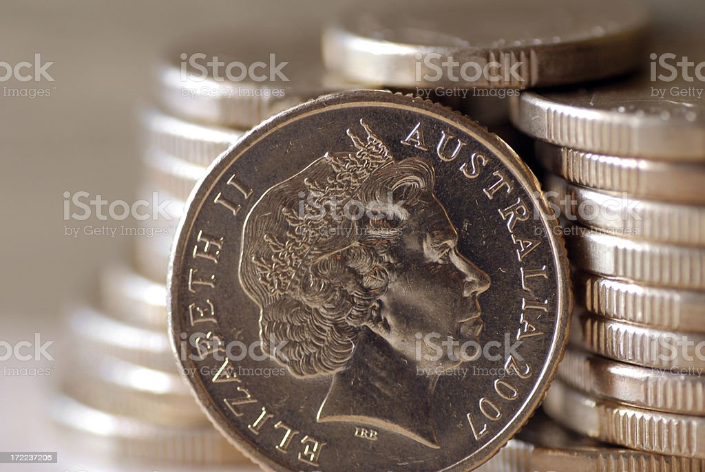Gold coin royalty-free stock photo