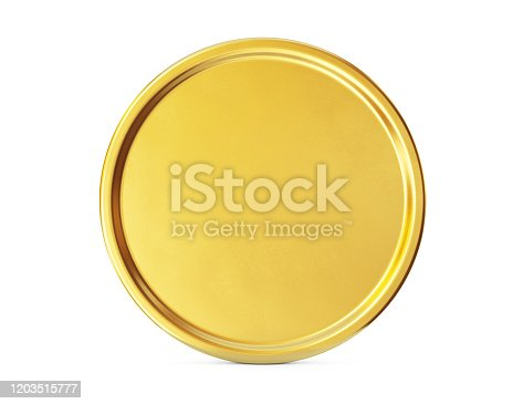Gold coin sign isolated on a white background. Clipping path included. 3d illustration