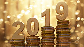 2019 Gold coins falling