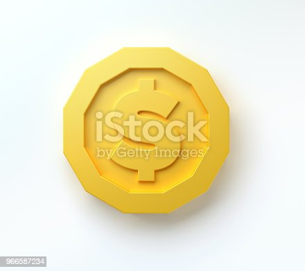 642250754 istock photo gold coins isolated on white background. 3d render 966587234