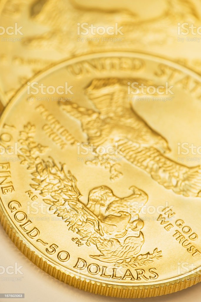 Gold Coins. royalty-free stock photo