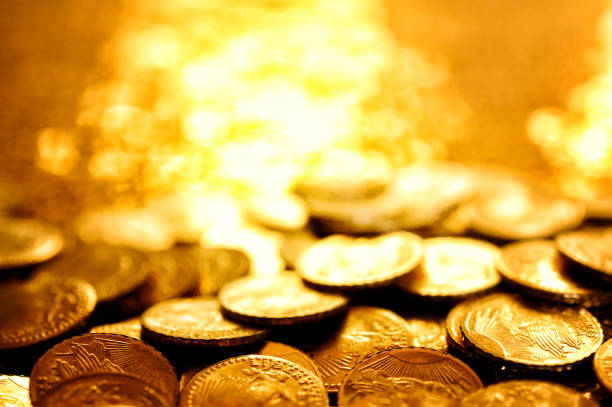Gold coins Gold coins. antiquities stock pictures, royalty-free photos & images