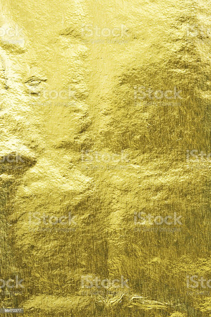 Gold colored field of wheat expanded royalty-free stock photo