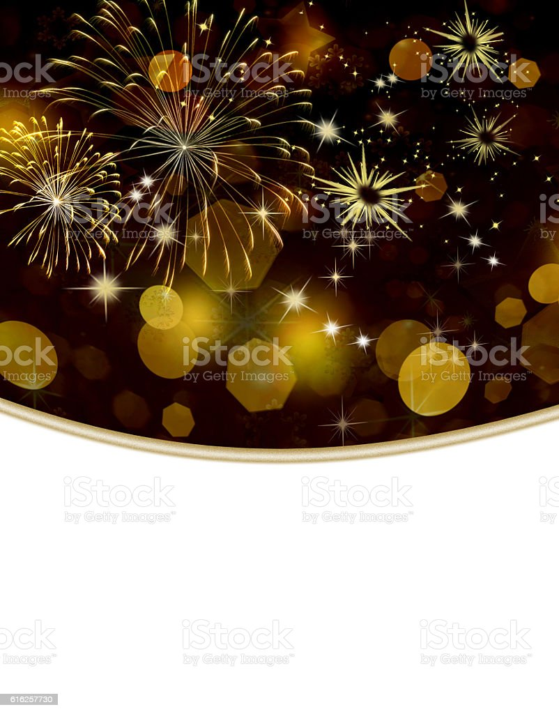 Gold colored holiday background stock photo