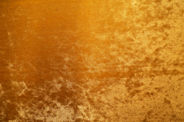 gold colour velvet fabric background texture - velvet stock pictures, royalty-free photos & images