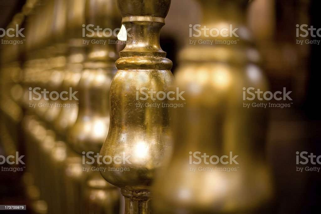 Gold columns royalty-free stock photo
