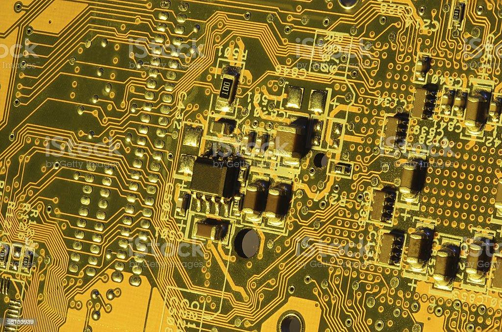 골드 컴퓨터 전자 royalty-free 스톡 사진
