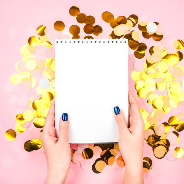 Gold Konfetti Hintergrund – Foto