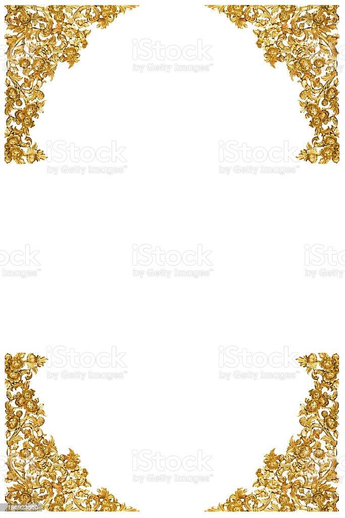 Gold corner stock photo