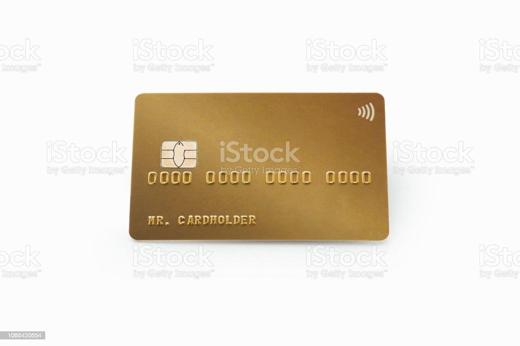 Carte Bancaire Or.Photo Libre De Droit De Carte Bancaire De Credit Or Isole