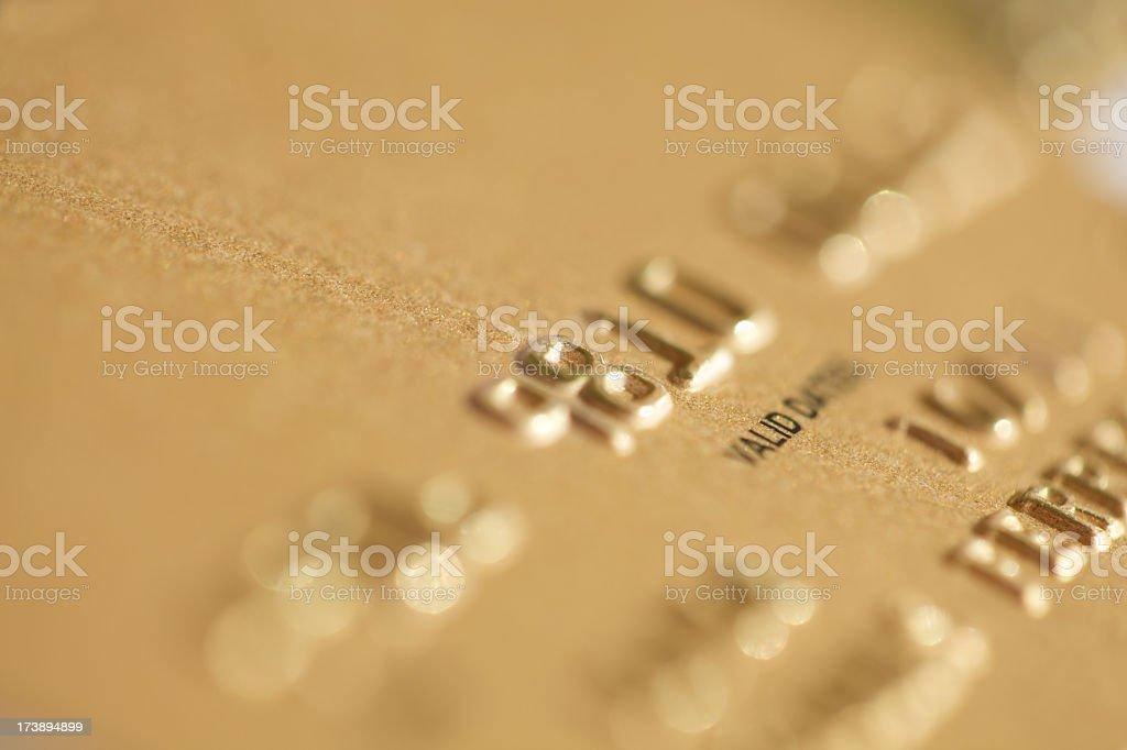 Gold Credit Card close-up stock photo