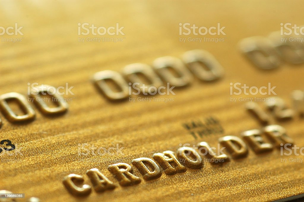 Gold Credit Card royalty-free stock photo