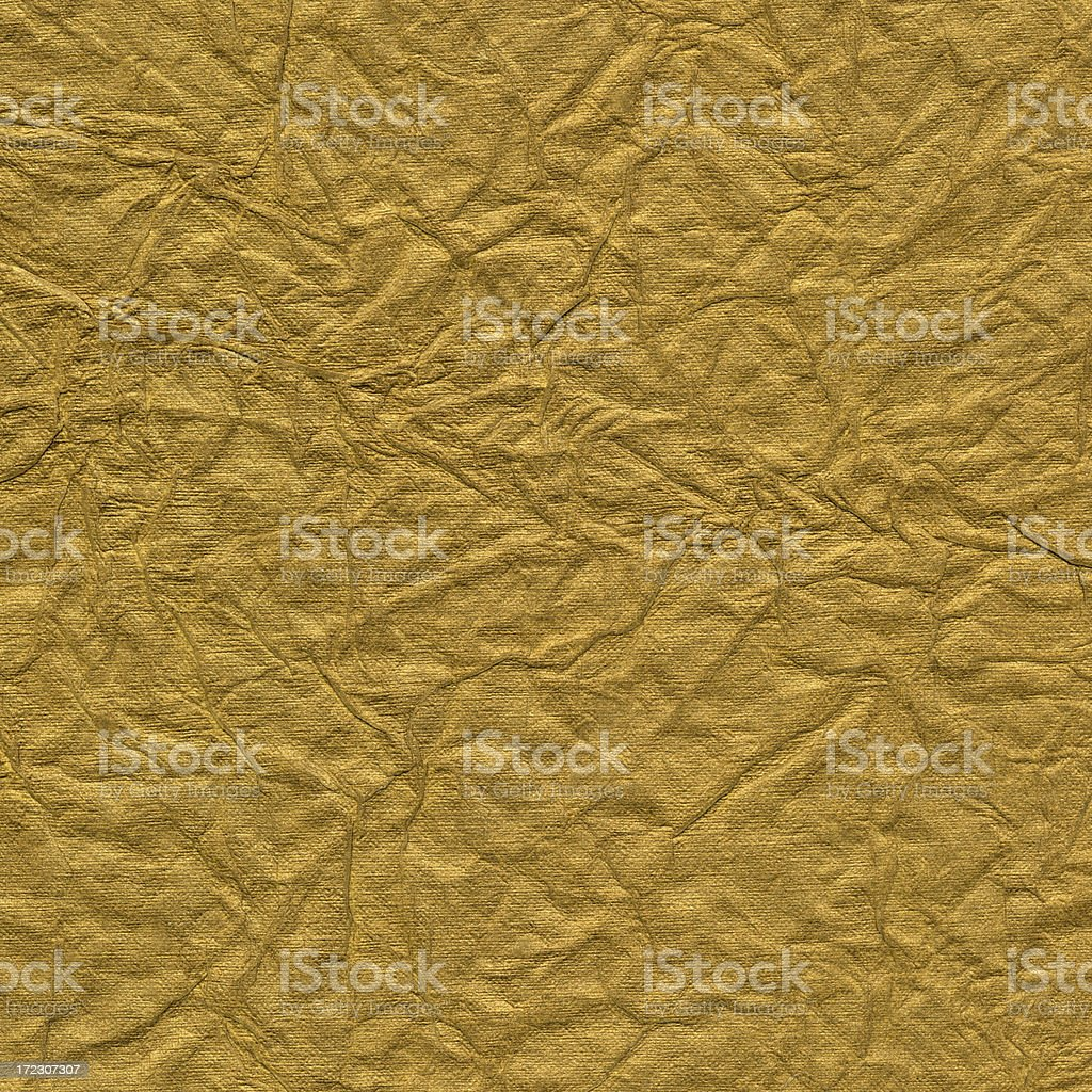gold crinkled art paper royalty-free stock photo