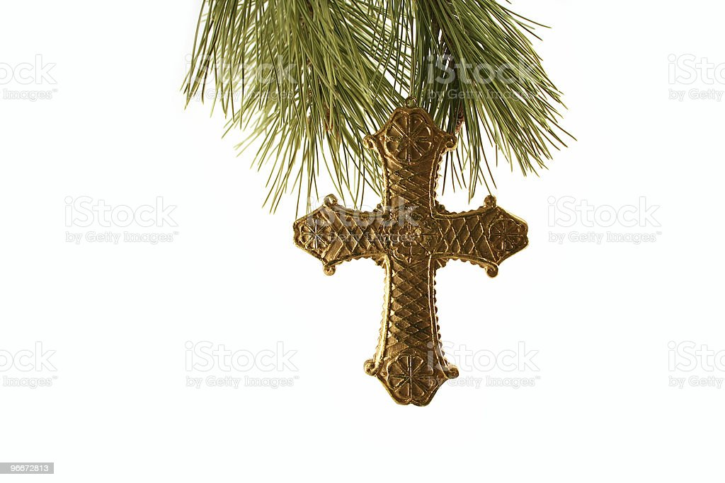 Gold Cross Ornament royalty-free stock photo