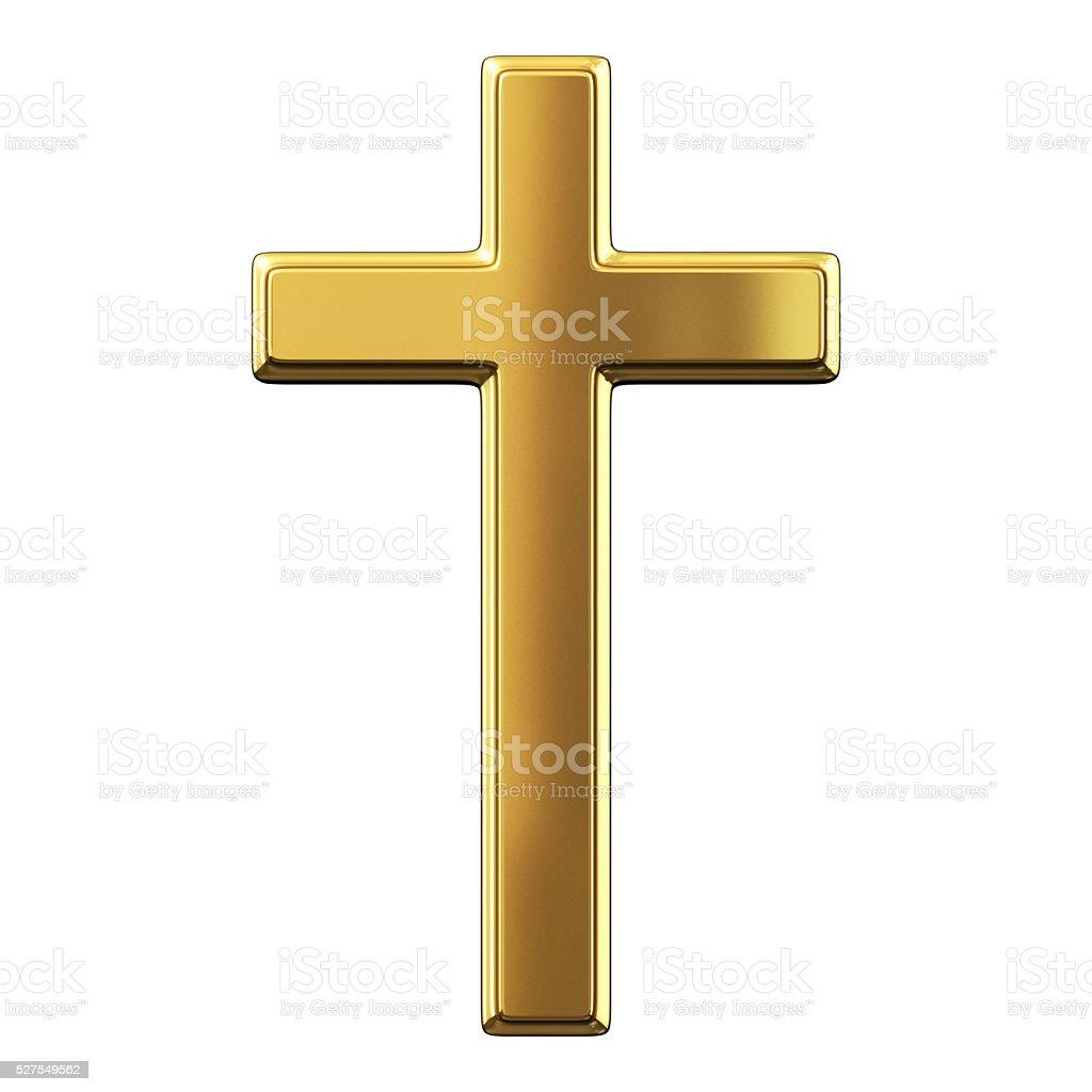 Gold Cross stock photo