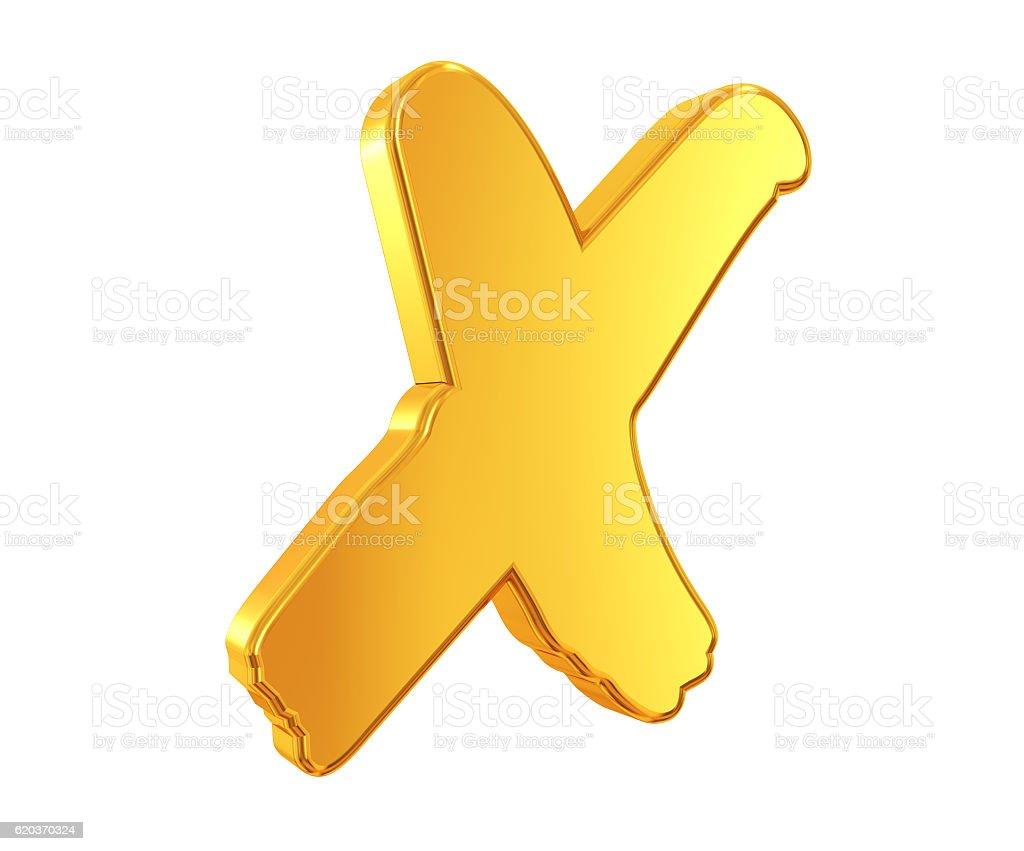 Gold cross Symbol foto de stock royalty-free