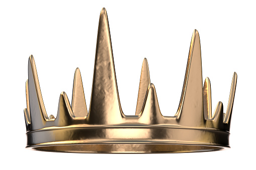 3d crown rendered on a white background.