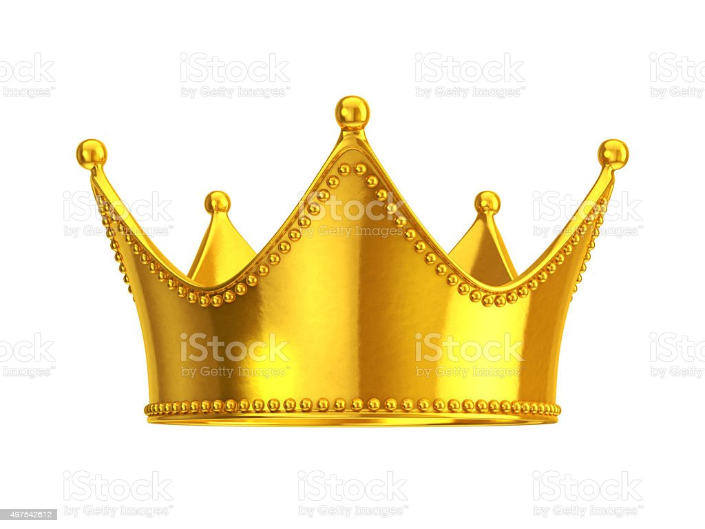 Gold crown stock photo