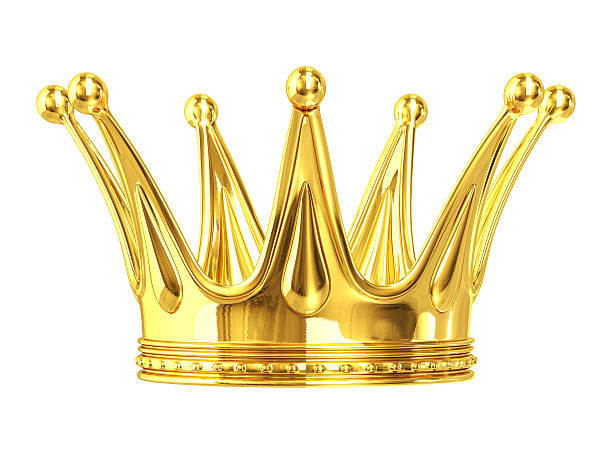 gold crown - crown stock photos and pictures