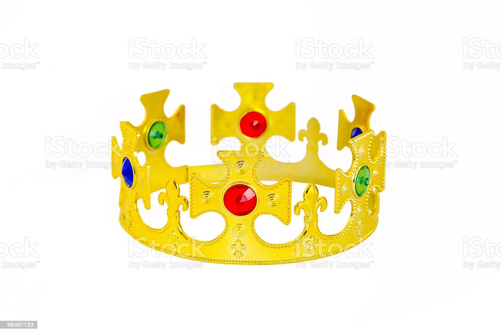 Gold crown royalty-free stock photo