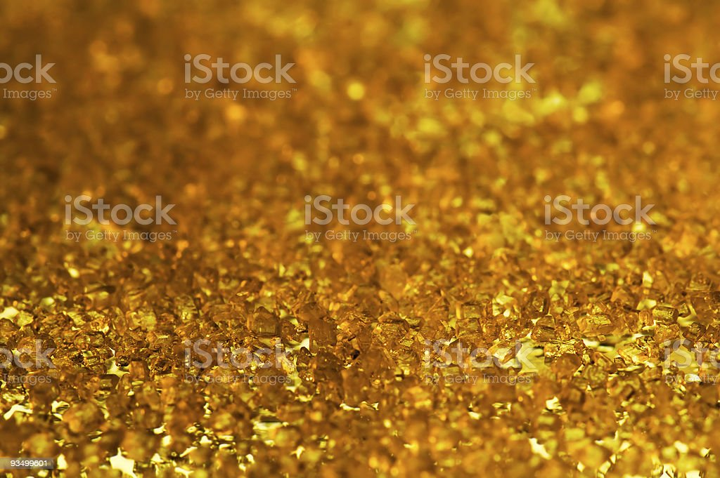 gold crystals stock photo