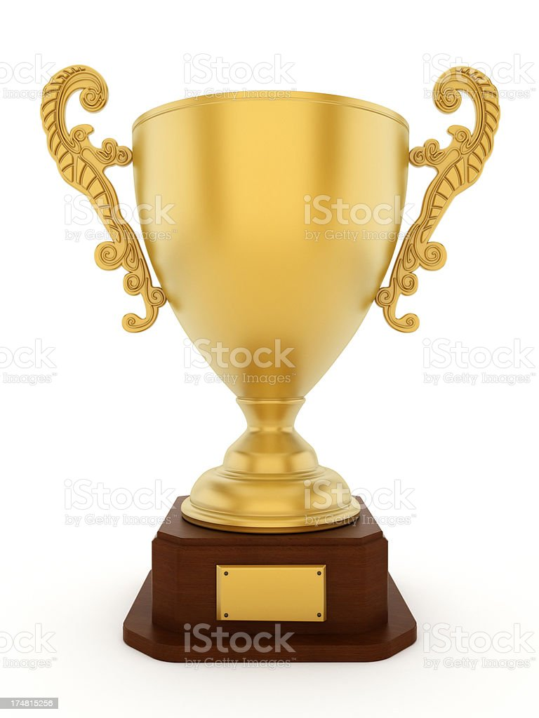 Gold cup royalty-free stock photo