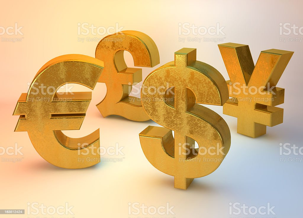 Gold Currency  family stock photo