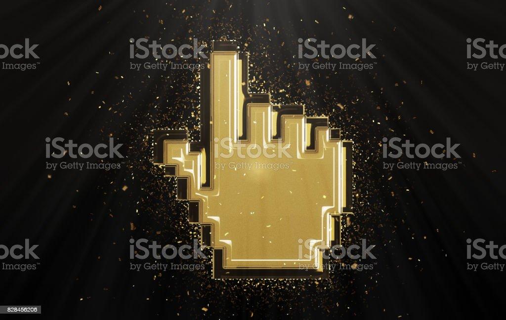 Gold cursor stock photo