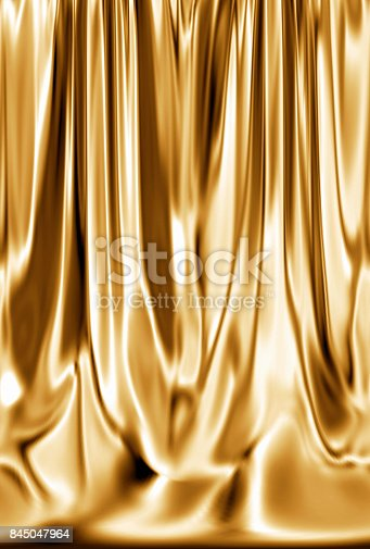 istock Gold curtains 845047964