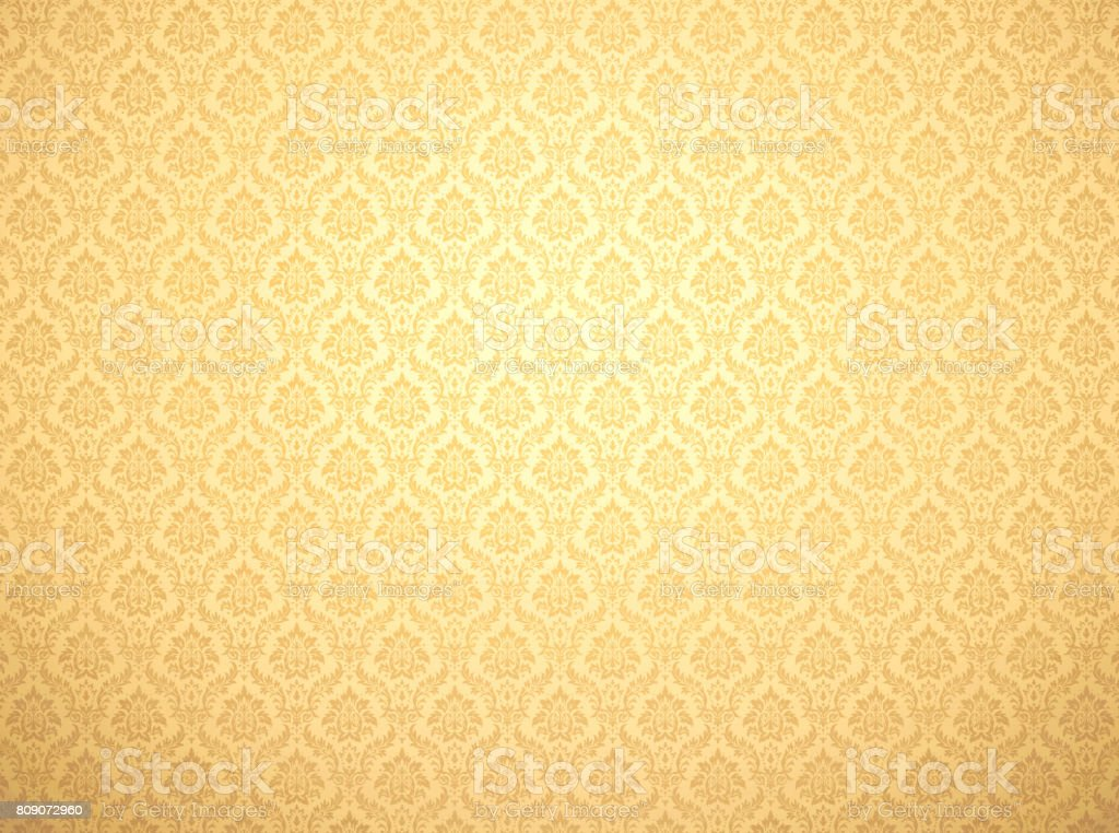 Gold damask pattern background