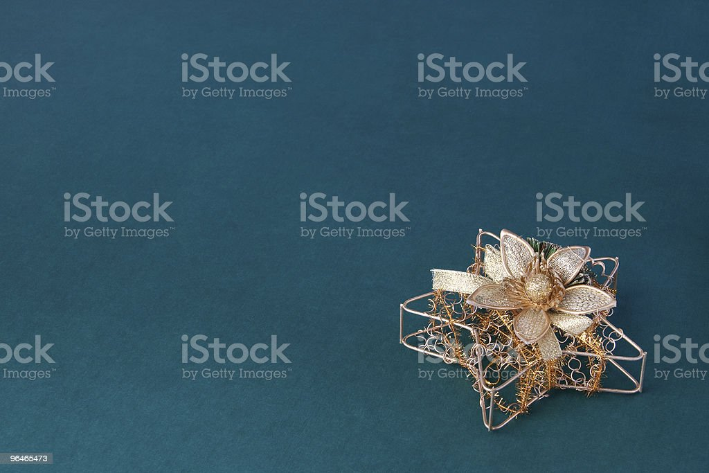 Gold decoration star royalty-free stock photo